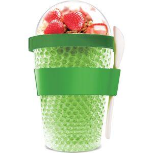 """ASOBU Двустенна охлаждаща чаша с прибор """"CHILL YO 2 GO"""" - цвят зелен"""