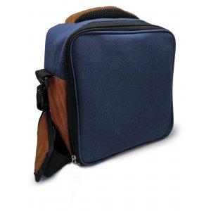 Vin Bouquet/Nerthus Термоизолираща чанта за храна с 2 джоба - син цвят