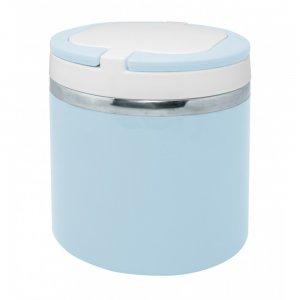 """Nerthus Стоманена двустенна кутия за храна - цвят  """"ПАСТЕЛНО СИНЬО"""" - 700 мл."""