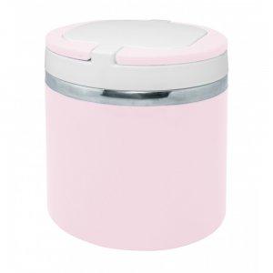 """Nerthus Стоманена двустенна кутия за храна - цвят """"ПАСТЕЛНО РОЗОВ"""" - 700 мл."""