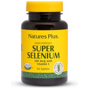 СЕЛЕН + Витамин Е / SELENIUM + Vitamin E - NaturesPlus (90 табл)