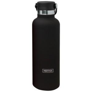 """Nerthus Двустенна спортна бутилка с дръжка - цвят """"ЧЕРЕН"""" - 750 мл."""
