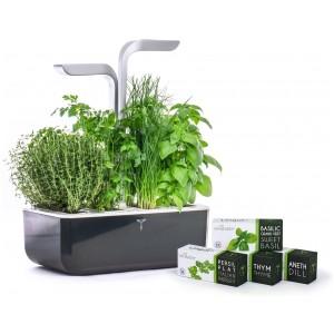 Домашна градина SMART VÉRITABLE® GARDEN - цвят черен/инокс