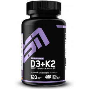Витамини К2+D3 / Vitamin MK-7 - ESN (120 капс)