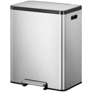 """EKO Кош за разделно събиране на отпадъци с педал """"ECOCASA II"""" - 36 + 24 литра - мат"""