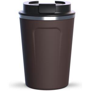 """ASOBU Двустенна термо чаша с вакуумна изолация """"CAFE COMPACT"""" - 380 мл - цвят кафяв"""