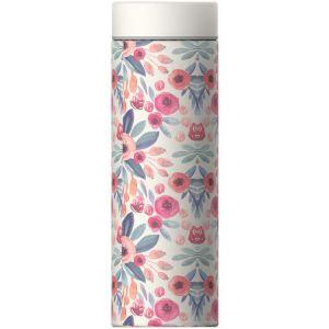 """ASOBU Двустенна термо бутилка с вакуумна изолация """"LE BATON"""" - 500 мл - цвят флорални мотиви"""